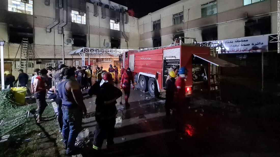 At least 82 killed in massive Baghdad hospital fire, ministry says