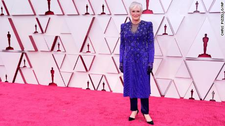 Glenn Close arrives at the Oscars on April 25 at Union Station in Los Angeles.