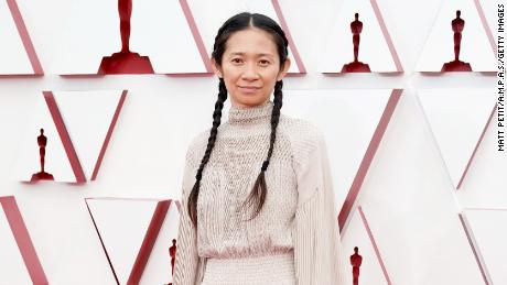 Chloé Zhao won best director. (Photo by Matt Petit/A.M.P.A.S. via Getty Images)