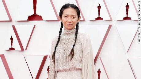 Chloe Zhao won Best Director.  (Photo by Matt Petit / AMPA via Getty Image)