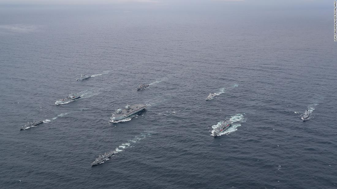 Britain is sending a huge naval force through some of the most tense waters in Asia