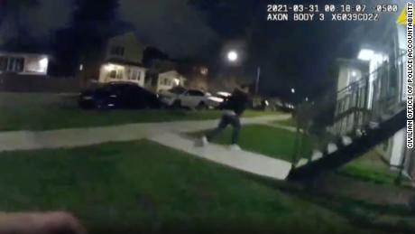 Bodycam footage of the scene during the pursuit of Anthony Alvarez.