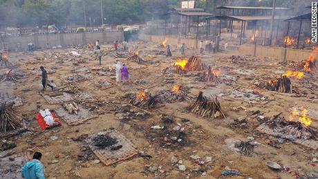 The Seemapuri crematorium in eastern New Delhi, on April 29.