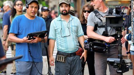 NEW YORK, NY - JUNE 20:  Lin-Manuel Miranda seen on location for 'In the Heights' in Washington Heights on June 20, 2019 in New York City.  (Photo by James Devaney/GC Images)