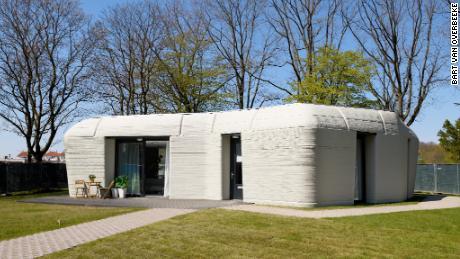 Eerste bewoonde 3D-betongeprinte woning van Project Milestone in Bosrijk, Eindhoven van oa Theo Salet TU/e