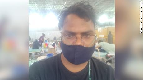 Sadanand Patel at Sardar Patel Covid Care Centre.