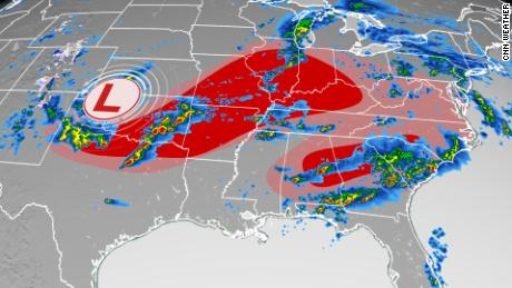 1 dead after tornado touches down in Atlanta area and severe weather barrels through the Southeast US