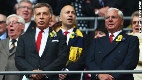 Arsenal Stan Kroenke looks on prior to the FA Cup Final between Aston Villa and Arsenal.
