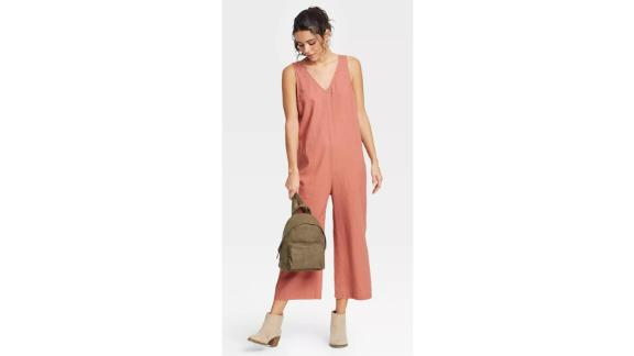 Universal Thread Women's Sleeveless Cropped Jumpsuit