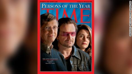 Bill and Melinda Gates were TIME Persons of the Year with Bono in 2005.