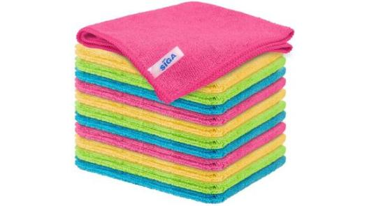Mr. Siga Microfiber Cleaning Cloths, 12-Pack