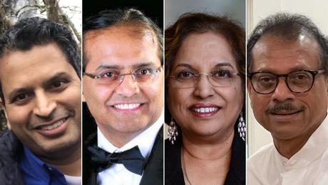 From left: Prasad Garimella, Sreeni Gangasani, Kalpalatha Guntupalli and Sudhakar Jonnalagadda