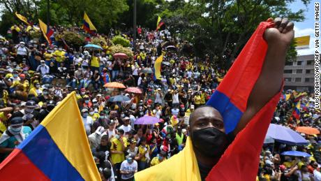 In the Colombian protests, pandemic pressures collide with an existential showdown for the police