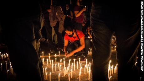 A candlelight vigil for demonstrator Lucas Villa was held last week.