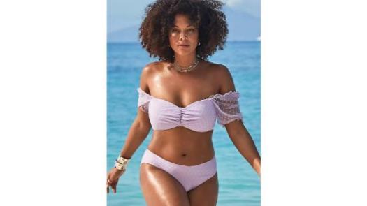 Swimsuits For All x GabiFresh Cup-Sized Off-the-Shoulder Bikini Set