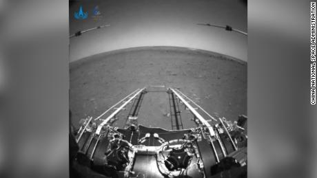 China released the first pictures taken by its Mars rover