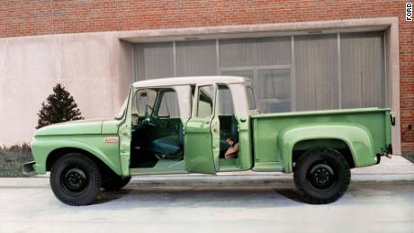 In the 1960s and '70s, trucks continued getting roomier and nicer, like this 1965 F-250 Crew Cab.