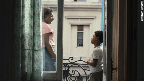 "Liniker as Cassandra (left) and Gustavo Coelho as Gersinho (right) are shown in a scene from ""September Mornings."""
