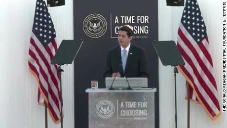 Ryan speaks Thursday evening at the Ronald Reagan Presidential Library.