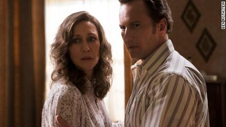 """(From left) Vera Farmiga and Patrick Wilson star as husband-and-wife paranormal investigators in """"The Conjuring: The Devil Made Me Do It."""""""
