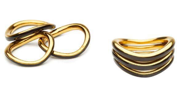 Charlotte Chesnais Wave Set of 3 Rings