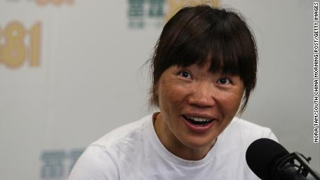 Hong Kong's Ada Tsang Yin-hung has set a world record for the fastest ascent of Mount Everest by a woman.