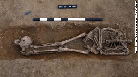 """The number of decapitated bodies and prone burials was """"exceptionally high"""" compared with other Roman cemeteries across the UK."""