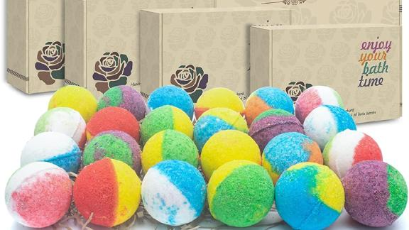 Inteye Organic Bath Bombs, Set of 24