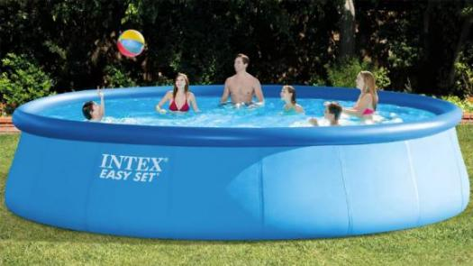 Intex 18-Foot-by-48-Inch Inflatable Round Outdoor Above-Ground Swimming Pool Set