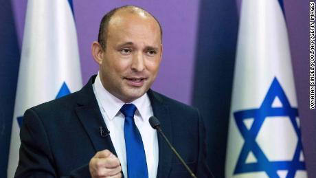 Naftali Bennett delivers a political statement at the Knesset in Jerusalem on May 30, 2021.