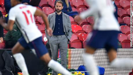 England manager Gareth Southgate looks on during the international friendly match against Austria.