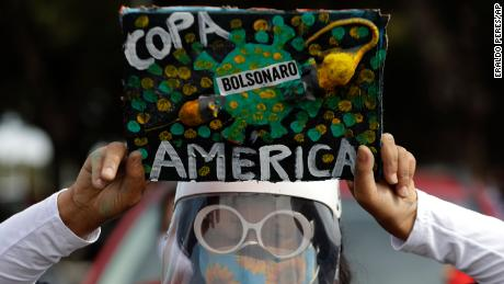 Protests have been organized against Brazil, which hosts the Copa America.