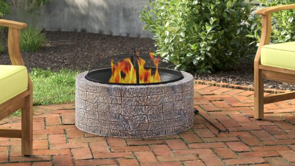 Aesir Manufactured Stone Outdoor Fire Pit