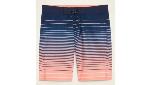 Patterned Built-In Flex Board Shorts for Men
