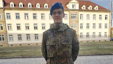 Judith Ederberg, 20, is a medical student in the German Bundeswehr.