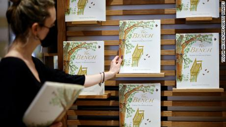"""""""The Bench,"""" by Meghan, Duchess of Sussex, is displayed in a bookshop in London on June 8."""