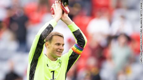 Neuer has worn a rainbow armband during Germany's first two games of Euro 2020.