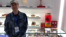 Tsafrir at an exhibition on Olympic-related treasures, which he opened in Nagano.
