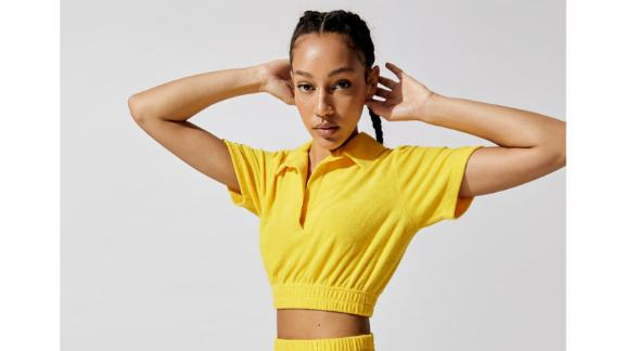 Micro Terry Cropped Top