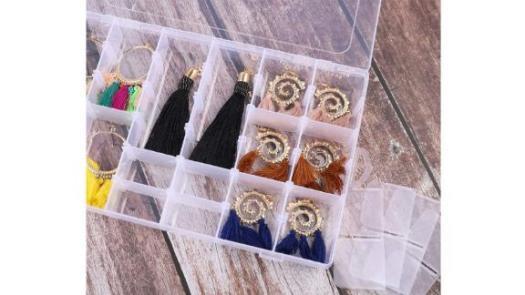 Plastic Organizer Box with Adjustable Dividers