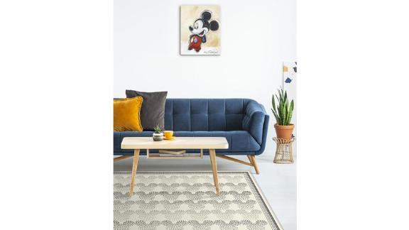 Mickey Ombre Black and White Rug