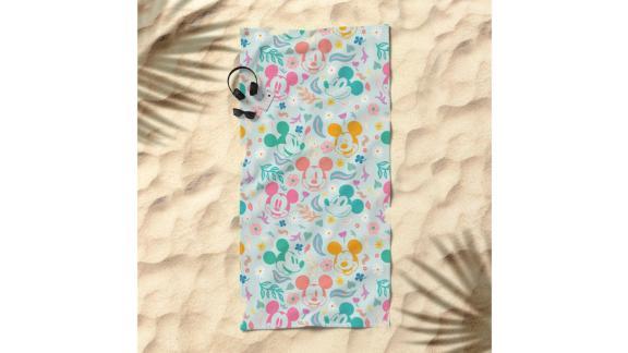 Botanical Mickey Mouse by Sun Lee Beach Towel