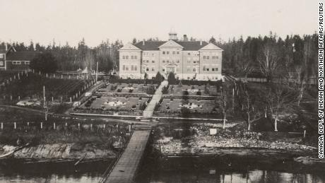 The Kuper Island Residential School in British Columbia is depicted in this June 19, 1941 archival photograph.