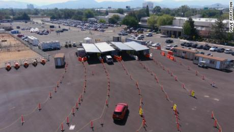 The Washoe County health department runs a vaccine drive-thru site near the rodeo, but it has seen dwindling numbers of people showing up for vaccines. However, a growing number of people are wanting to get Covid-19 tests, a strong indicator that cases are on the rise.