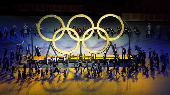 People perform during the opening ceremony.