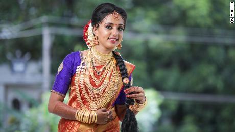 Vismaya Nair at her wedding in May 2020.