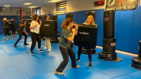Flight attendants are getting self-defense training as the number of unruly passengers increases.