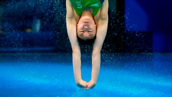 Australian diver Esther Qin competes in the 3-meter springboard event on July 30.