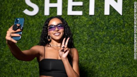 Tinashe attending a Shein festival in Los Angeles in May.