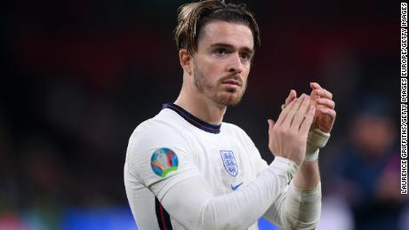 Jack Grealish of England acknowledges the fans following the UEFA Euro 2020 Championship Final against England.